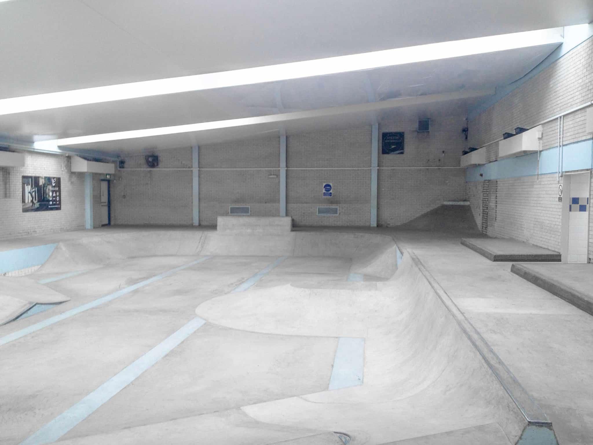 Campus pool skate park emmett russell architects - University of bristol swimming pool ...